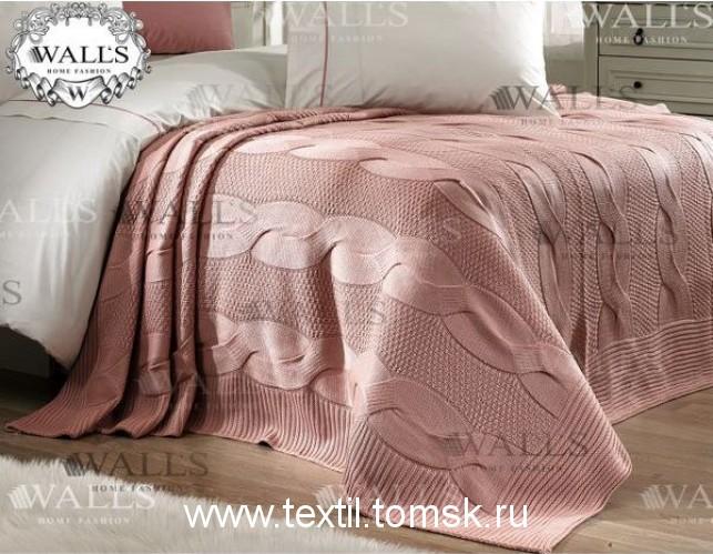 Вязаные покрывало на кровать в спальню.